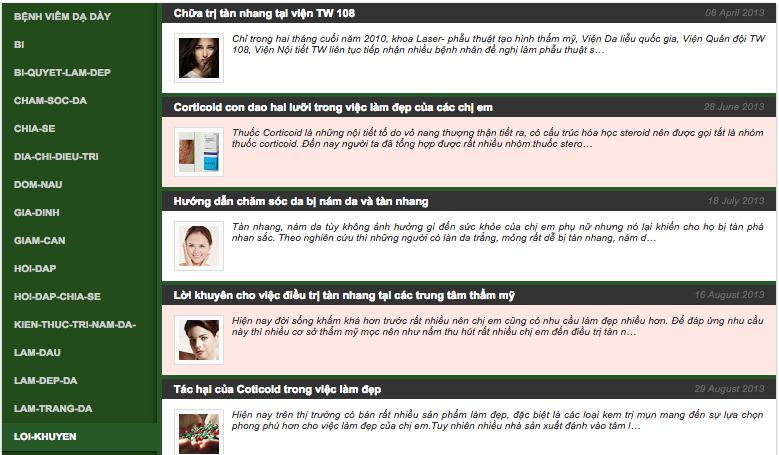 Bảng mục lục liệt kê nội dung cho Blogger