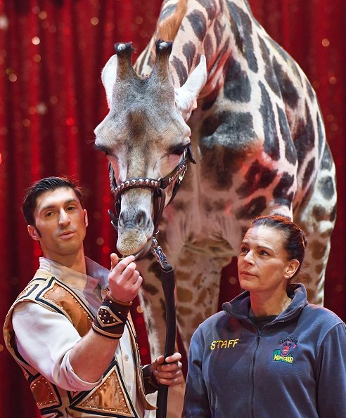 Princess Stephanie of Monaco attended the opening of 42nd International Circus Festival In Monte-Carlo. Princess is the patron of Circus Festival