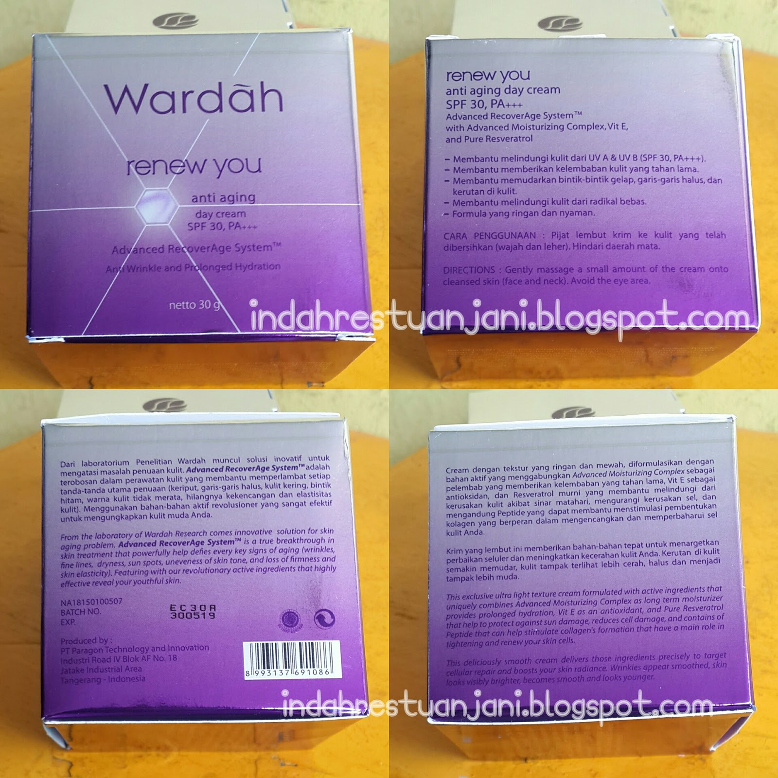 INGREDIENTS WARDAH RENEW YOU DAY CREAM