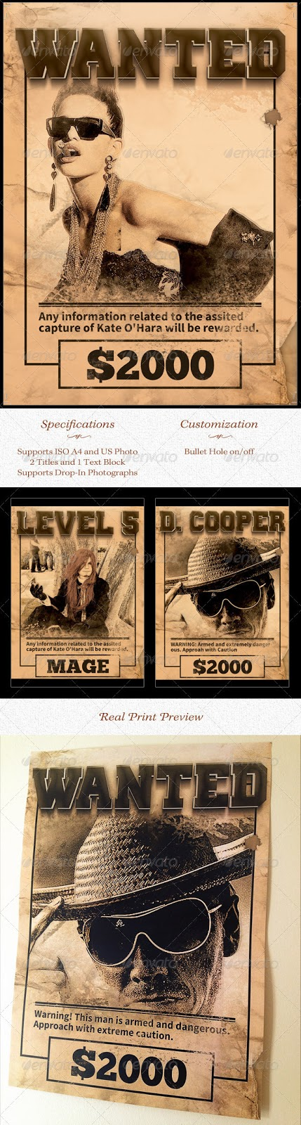 20 Best Wanted Poster Templates PSD Download Designsmagorg – Most Wanted Posters Templates