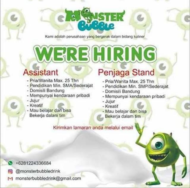 Loker Assistant dan Penjaga Stand di Bandung