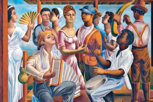 Jaime Colson, Merengue, painting, 1938