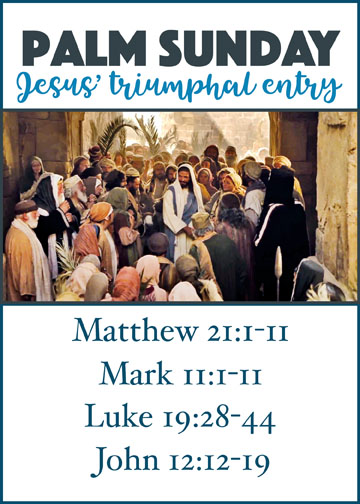 Palm Sunday: Jesus' Triumphal Entry free printable