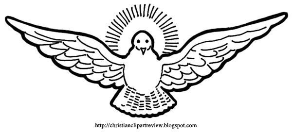The Descending Dove Or Divine Dove Symbol Christian Clip Art Review