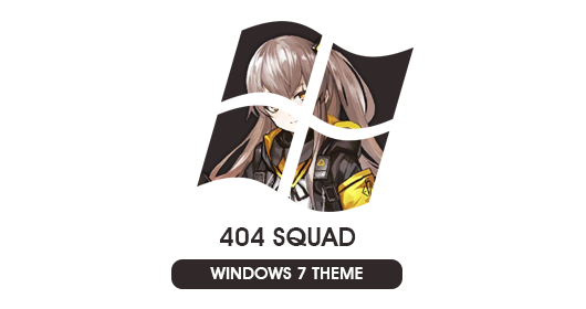 Girl Frontline - 404 Squad Windows 7 Theme