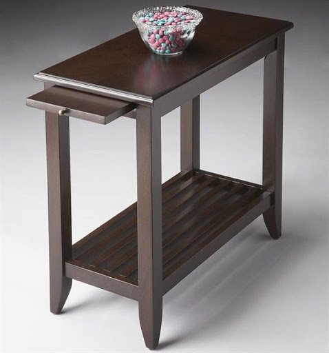 chairside table with pull out tray