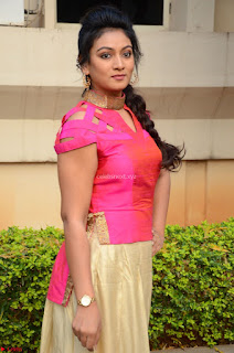 Ashmita in Pink Top At Om Namo Venkatesaya Press MeetAt Om Namo Venkatesaya Press Meet (18).JPG