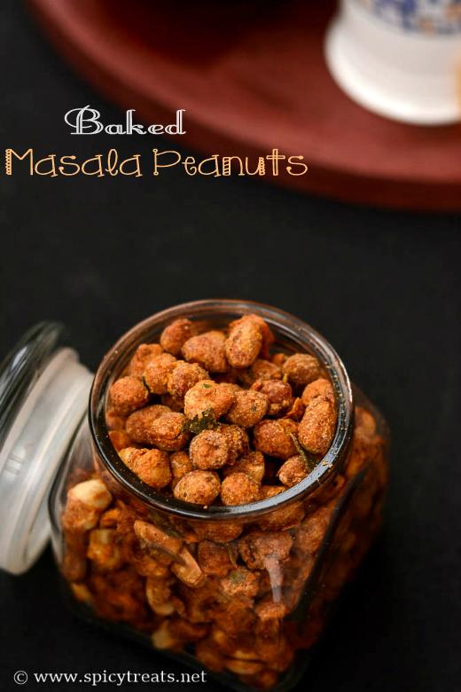 Masala Peanuts In Oven