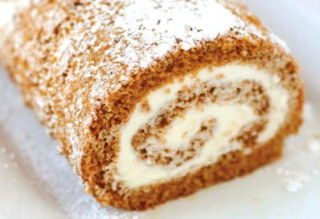 Classic Pumpkin Roll #cake #pumkin