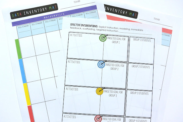 Data Inventory Mats for Reading and Math