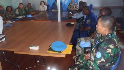Gubernur Isiro kunjungi Kontingen Garuda XX-M di Kongo