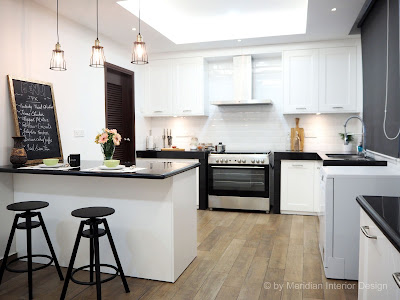 Modern English Kitchen Design by Meridian Interior Design
