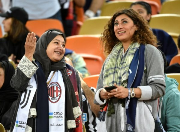 Saudi women at Jeddah stadium to watch Ronaldo, Juventus against AC Milan