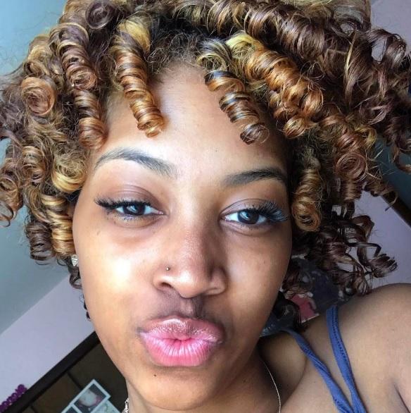 Roller set curls