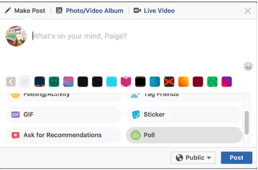 Make Your Own Poll For Facebook