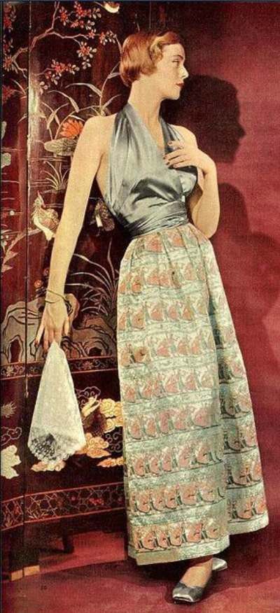 Halter Style Evening Gown Woman's Day 1950