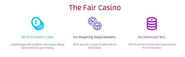 No Wager - Play Fair Slots