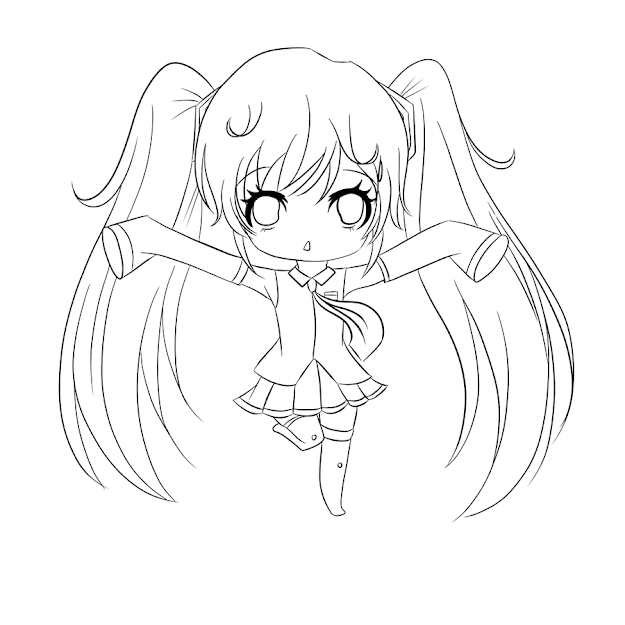 Chibi Coloring Pages Photos