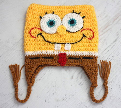 Crochet bob the square sponge hat - Free pattern