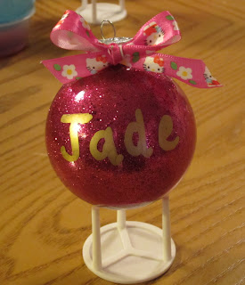 @mvemother #NUO2012 Glitter Filled Ornaments @lisastuf