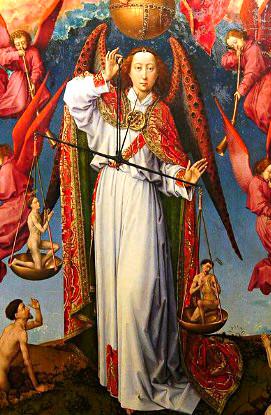 Saint Michel pesant les âmes