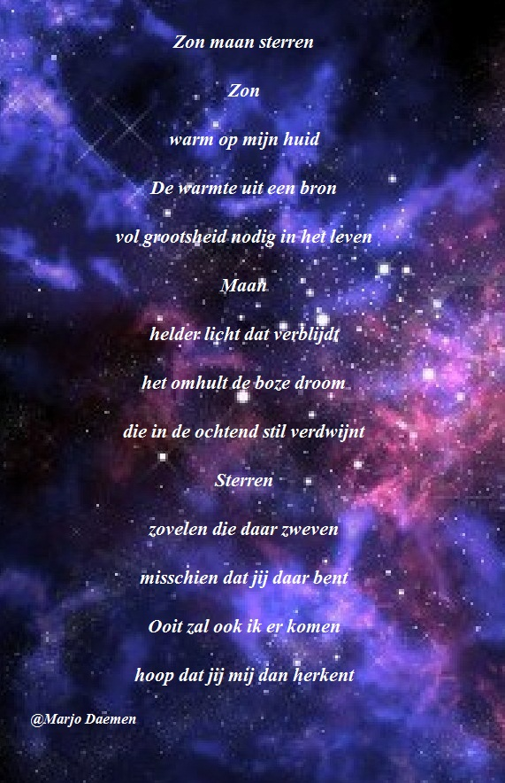 Gedichtje Zon maan sterren