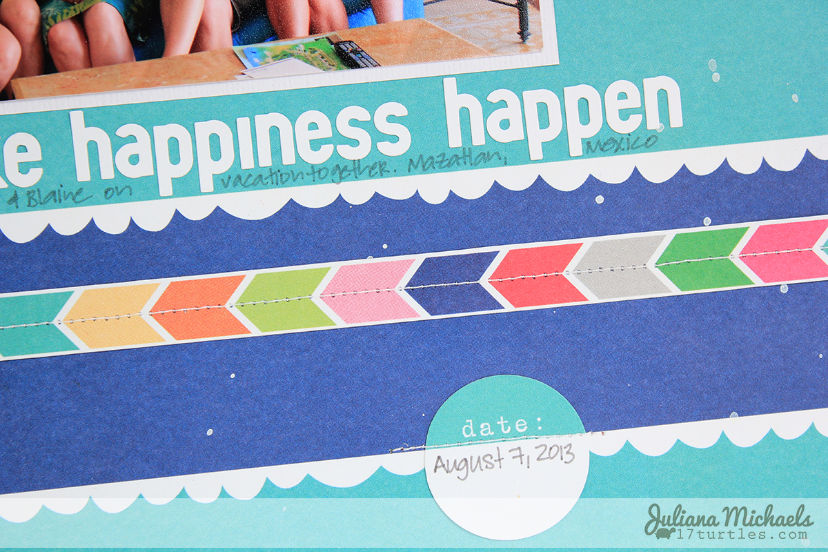Friends Make Happiness Happen by Juliana Michaels #scrapbookpage #layout #ellesstudio #shine