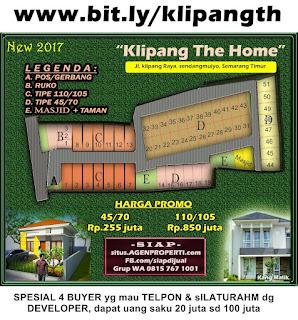 jual Perumahan baru KLIPANG THE HOME Semarang Timur Harga jual termurah desain mewah minimalis strategis bit.ly/klipangthehome