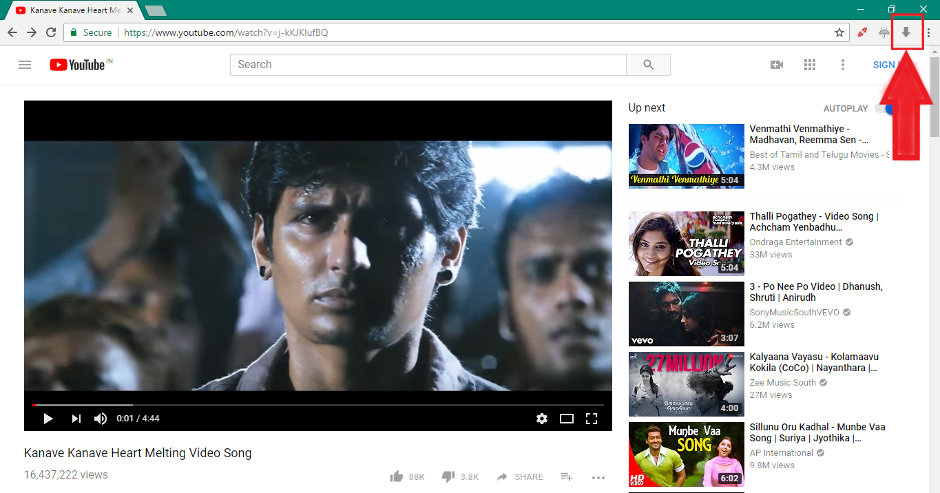 How to download Youtube videos in Epic browser?