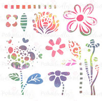 Creative Doodles Collection - Flower Doodles stencil