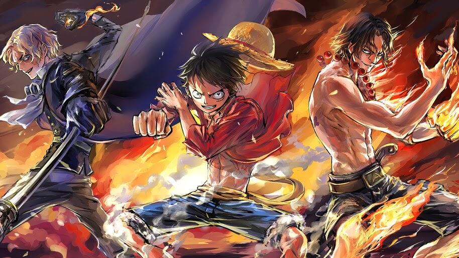 One Piece, Luffy, Ace, Sabo, 4K, #6.436