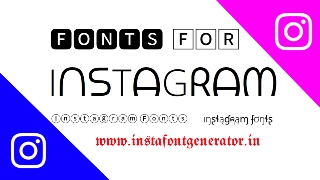 Instagram Fonts Generator