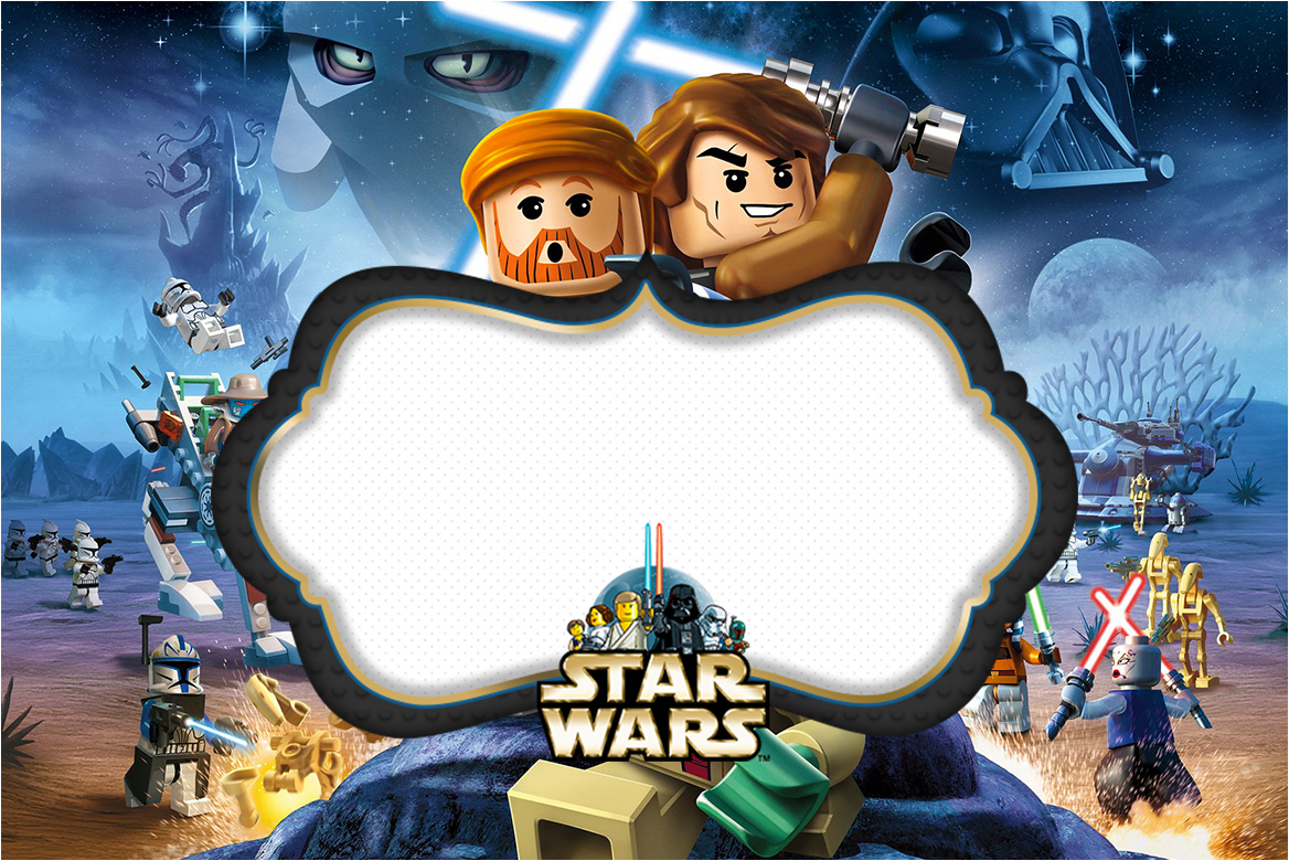 lego star wars party invitations printable free - Roho.4senses.co