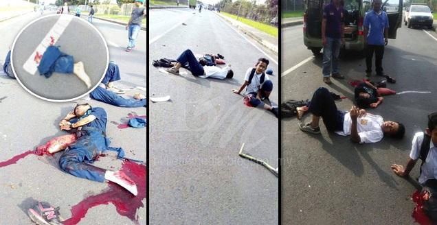 8 FOTO: NGERI! Kemalangan NGERI Budak Sekolah Baru Berlaku Petang Tadi ! Inilah Padahnya Kalau Merempit
