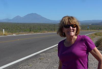 Liz is enjoying a quick stop along the road, BCS.