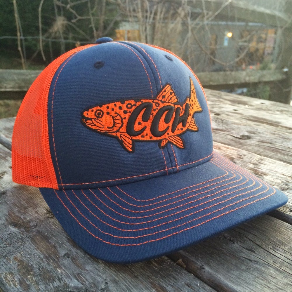 bb3a91b5f44f4 I ve taken a liking to Crooked Creek s trout logo. This hat also comes in  other colors