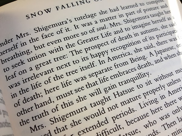 scraps of five book review snow falling on cedars  it was a matter in part of posture and breathing but even more so of soul mrs shigemura taught her to seek union the greater life and to imagine