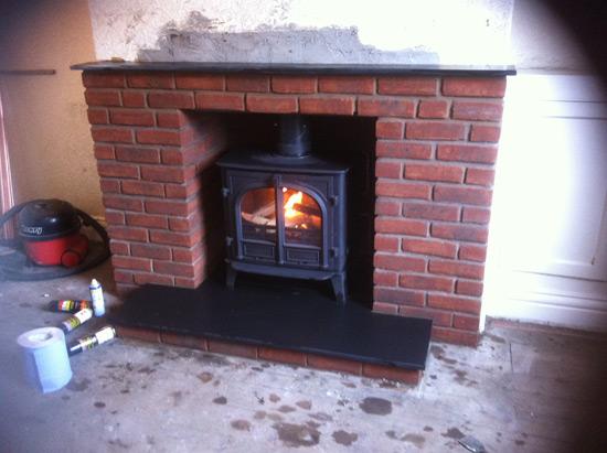 Brick Driveway Image: Brick Built Fireplaces