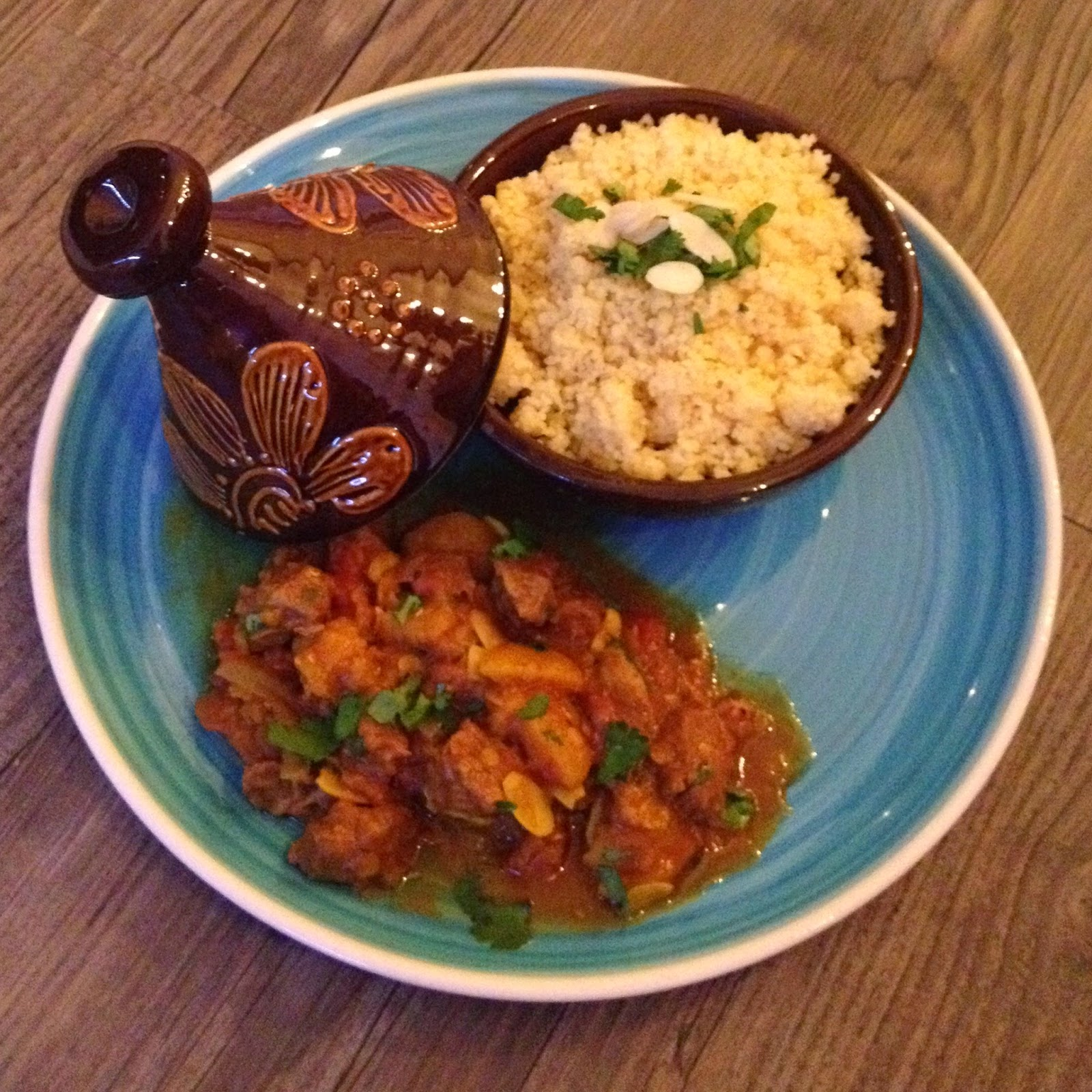 Slow Cooked Moroccan Spiced Lamb with Apricots, Lentils and Almonds