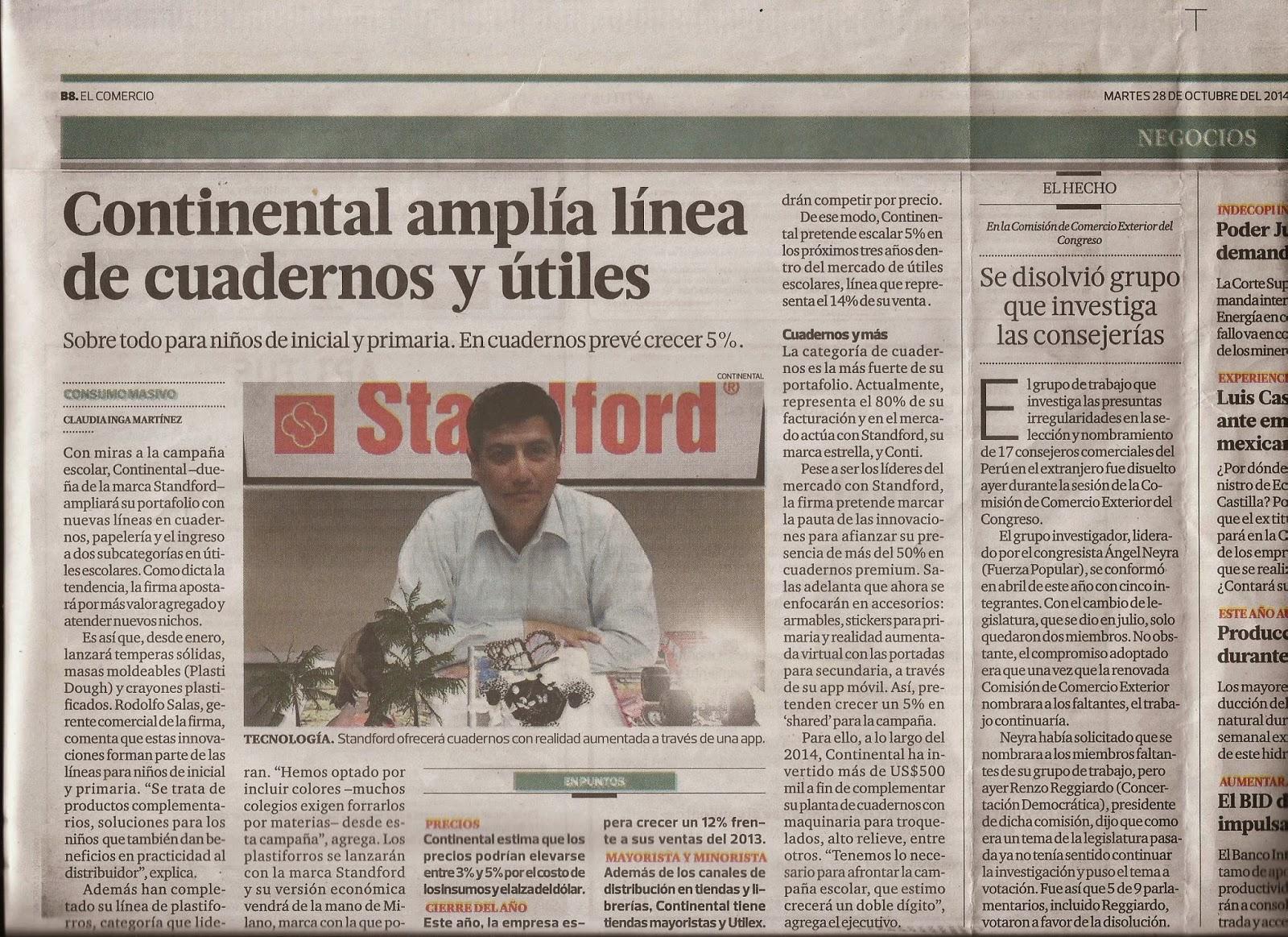 c531a9c9 Perú: Continental amplía línea de Cuadernos y Útiles