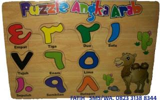 Mainan Puzzle Kayu Murah Angka Arab