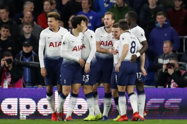 Spurs reclaim second place with 3-0 win over Cardiff