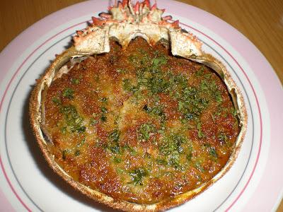 TXANGURRO receta plato gastronomia cocina vasca centolla centollo marisco