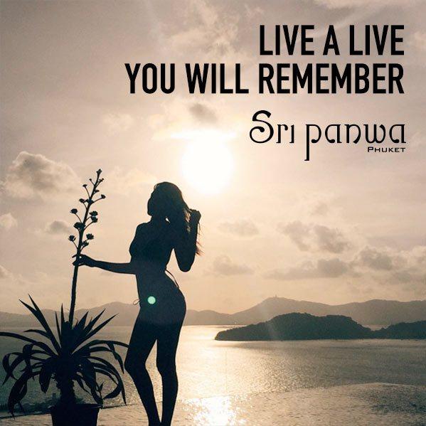 any cool quotes or tag lines pls?   Sri Panwa Phuket