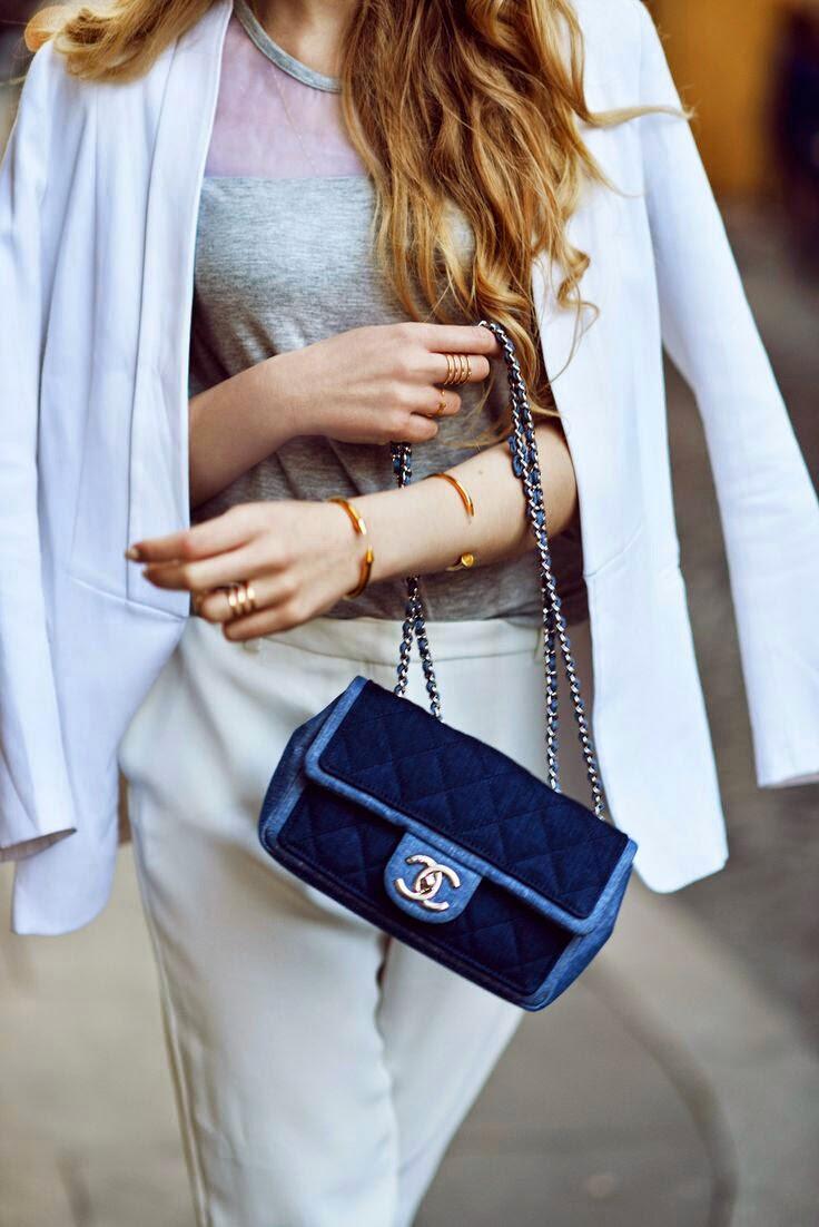 O poder dos acessórios - mala azul