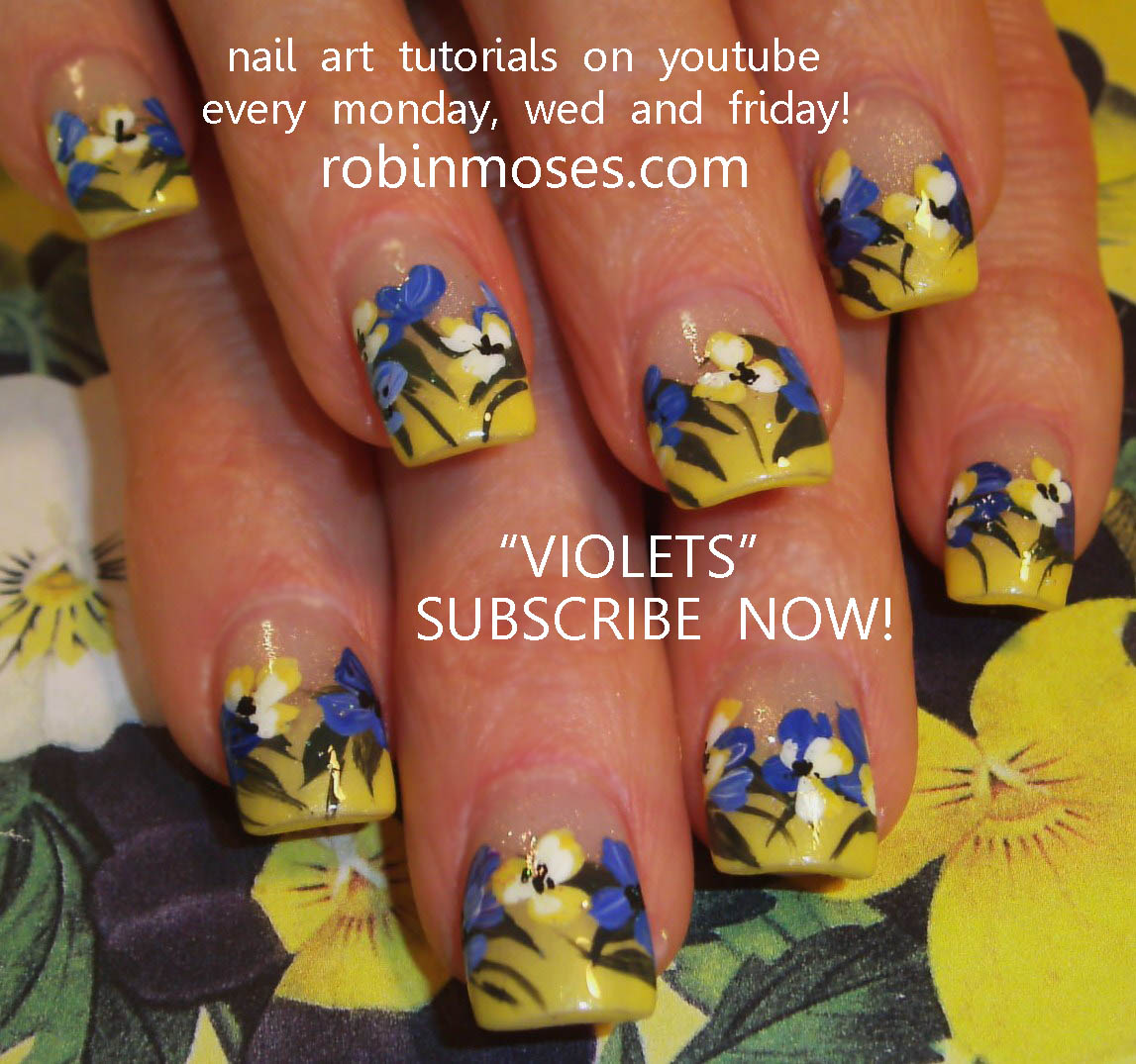 Nail Art by Robin Moses: violets nail, nail art violets, chanel le ...