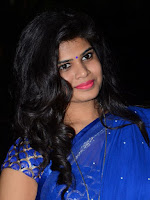 Alekya Spicy Blue Saree Photo Gallery