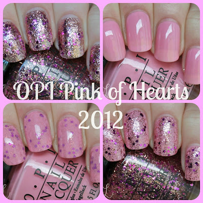 OPI Pink of Hearts 2012 Swatches & Review