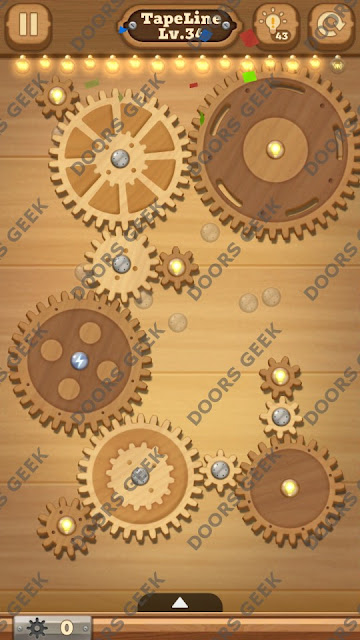 Fix it: Gear Puzzle [TapeLine] Level 34 Solution, Cheats, Walkthrough for Android, iPhone, iPad and iPod