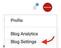 Bloglovin' Blog settings